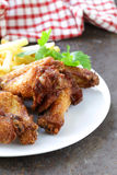 Fried chicken wings with sauce Royalty Free Stock Photo