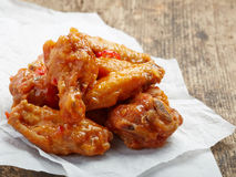 Fried chicken wings with sweet chili sauce Stock Images