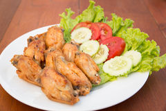 FRIED CHICKEN WINGS, THAI FOOD Stock Images