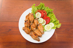 FRIED CHICKEN WINGS, THAI FOOD Stock Photography