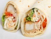 Fried Chicken Wrap Sandwich meridional Foto de archivo libre de regalías