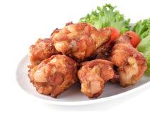 Fried Chicken y ensalada foto de archivo
