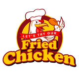 Fried Chickens Sign Imagenes de archivo