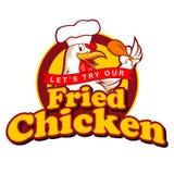 Fried Chickens Sign Arkivbilder