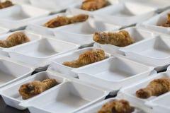 Fried Chickens tout préparé photos stock