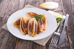 Fried chicory Royalty Free Stock Image
