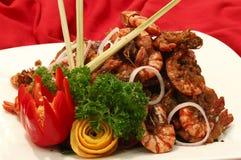 Fried chilli prawn Stock Photo