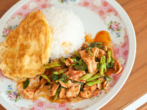 Fried chilly paste with pork Stock Images