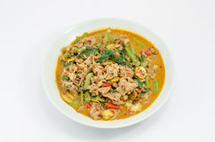 Fried chilly paste sauce with pork Stock Photography