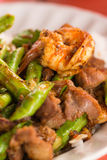 Fried chilly paste with shrimp Stock Images