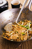 Fried Chinees Noodles with Chicken Royalty Free Stock Photos