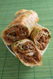 Fried Chinese Beef Rolls Royalty Free Stock Photography