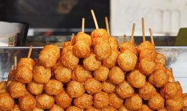 Fried Chinese Fish Balls Stock Photo
