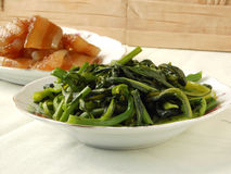Fried Chinese Flowering Cabbage Stock Image