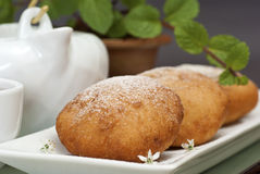 Fried Chinese Red Bean Buns Stock Image