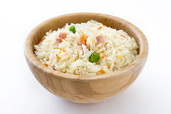 Fried chinese rice with vegetables isolated Royalty Free Stock Photography