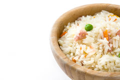 Fried chinese rice with vegetables isolated Royalty Free Stock Photos