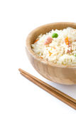 Fried chinese rice with vegetables isolated Stock Photo