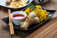 Fried Chinese Spring rolls Stock Image