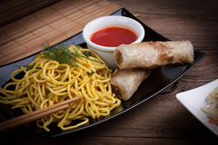 Fried Chinese Spring rolls Royalty Free Stock Photo