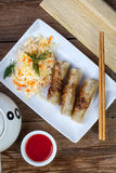 Fried Chinese Spring rolls. Stock Photo