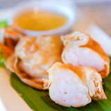 Fried Chinese Traditional Shrimp en rollos Imagen de archivo