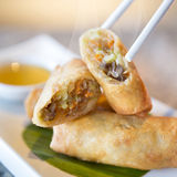 Fried Chinese Traditional Spring rolls Royalty Free Stock Image