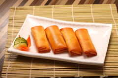 Fried Chinese Traditional Spring rolls food Royalty Free Stock Photography