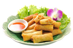 Fried Chinese Traditional Spring rolls food. Fried Chinese Traditional Spring rolls delicious food stock photography