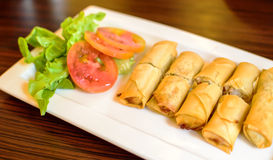 Fried Chinese Traditional Spring rolls food Royalty Free Stock Images