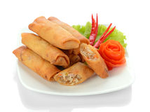 Fried Chinese Traditional Spring rolls food Royalty Free Stock Image