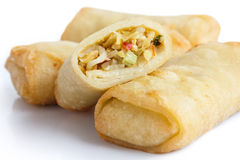 Fried chinese vegetable spring rolls. Stock Photography