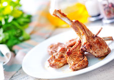 Fried chop meat Royalty Free Stock Photo