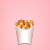 Fried cigarettes. Stock Photo