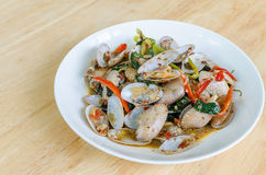 Fried Clams em Chili Paste Roasted Fotos de Stock Royalty Free