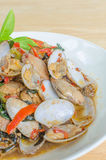 Fried Clams em Chili Paste Roasted Foto de Stock Royalty Free