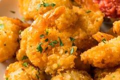 Fried Coconut Shrimp casalingo immagini stock