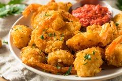 Fried Coconut Shrimp casalingo immagini stock libere da diritti