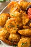 Fried Coconut Shrimp casalingo fotografia stock