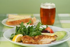 Fried cod fillet Royalty Free Stock Images