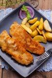 Fried cod fillet. Stock Images
