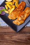 Fried cod fillet. Royalty Free Stock Photos
