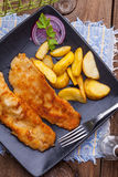 Fried cod fillet. Royalty Free Stock Photography