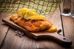 Fried cod fillet. Stock Image