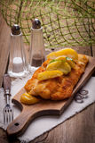 Fried cod fillet. Stock Photography