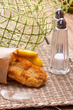 Fried cod fillet. Stock Images