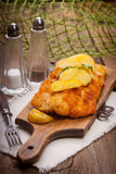 Fried cod fillet. Royalty Free Stock Images