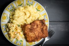 Fried cod fillet. Stock Photos