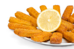 Fried cod fingers Royalty Free Stock Photo