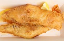 Fried Cod Fish in pastella Fotografie Stock Libere da Diritti